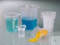 Universal graduated beaker, PP, 50 ml, w/ spouts Universal graduated beakers with indestructible...