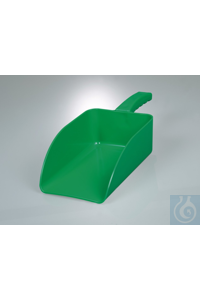 Filling scoop industry, PP green, WxDxL 17x23x36cm With anti-static additive, ideal for robust...