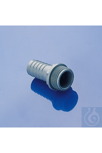Tube nozzle, ext. thread, 1/2