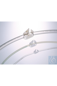 Schlauchklemme Quetsch-Fix, POM weiß, für Ø 1-5 mm Mit der Schlauchklemme kann der Schlauch in...
