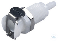 CPC coupling POM, female, w/ valve, mount., Ø1,6mm CPC coupling POM, female, w/ valve, mount.,...