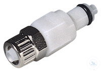 CPC coupling, POM, male, w/ valve, screw Ø 4x6 mm CPC coupling, POM, male, w/ valve, screw Ø 4x6 mm