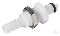 CPC coupling POM, male, w/ valve, mount., Ø 4,8 mm CPC coupling POM, male, w/ valve, mount., Ø...