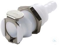 CPC coupling POM, female, w/o valve, mount.,Ø6,5mm CPC coupling POM, female, w/o valve,...