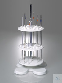 Pipette stand, rotatable, with 40 openings Frame for pipettes with two rotating perforated plates...