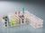 Reagenzglasgestell, PP, weiß, f. 24 Gl. bis Ø 25mm Universal-Reagenzglasgestell mit...