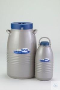 CXR500 Trocken-Versandbehälter N2-Kapazität: 7,7 l stat. Haltezeit: 14 Tage