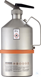 Safety can (2 liters) with metering device, unpolished: 02DU Safety can (2...