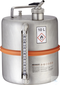 Safety barrel (10 l), metering device, separate vent., level indicator: 10DI...