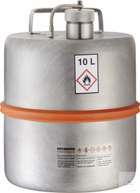 Safety barrel (10 liters) with screw cap and pressure control valve: 10K...