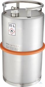 Safety barrel (25 liters) with screw cap and pressure control valve: 25K...