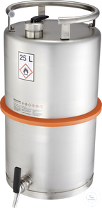 Safety barrel (25 liters) with self-closing tap: 25Z Safety barrel (25...