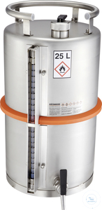 Safety barrel (25 liters) with self-closing tap and content level...