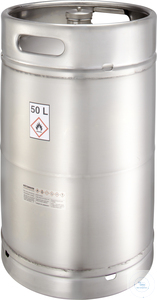 Safety barrel (50 liters) with screw cap and pressure control valve: 50K...