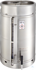 Safety barrel (50 liters) with self-closing tap and content level...