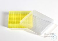 EPPi® Cryobox 0.5 / 10x10 divider, yellow, height 34 mm fix, with ID code,...