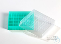 EPPi® Cryobox 1.0 / 10x10 divider, green, height 40 mm fix, with ID code, PP....
