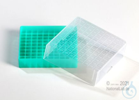EPPi® Cryobox 2.0 / 10x10 divider, green, height 53 mm fix, with ID code, PP....