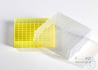 EPPi® Cryobox 2.0 / 10x10 divider, yellow, height 53 mm fix, with ID code,...