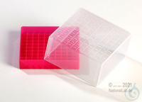 EPPi® Cryobox 4.0 / 10x10 divider, red, height 79 mm fix, with ID code, PP....