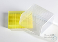 EPPi® Cryobox 4.0 / 10x10 divider, yellow, height 79 mm fix, with ID code,...