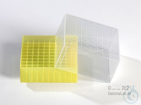EPPi® Cryobox 5.0 / 10x10 divider, yellow, height 94 mm fix, with ID code,...