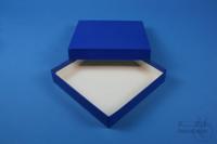 ALPHA Box 25 / 1x1 without divider, blue, height 25 mm, fiberboard standard....