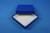 ALPHA Box 25 / 1x1 ohne Facheinteilung, blau, Höhe 25 mm, Karton standard....