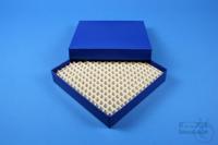 ALPHA Box 25 / 16x16 divider, blue, height 25 mm, fiberboard special. ALPHA...