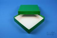 ALPHA Box 25 / 1x1 without divider, green, height 25 mm, fiberboard standard....