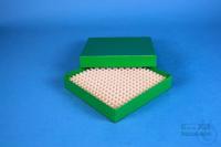 ALPHA Box 25 / 16x16 divider, green, height 25 mm, fiberboard special. ALPHA...