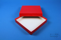 ALPHA Box 25 / 1x1 without divider, red, height 25 mm, fiberboard standard....
