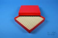 ALPHA Box 25 / 16x16 divider, red, height 25 mm, fiberboard special. ALPHA...