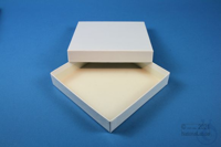 ALPHA Box 25 / 1x1 without divider, white, height 25 mm, fiberboard standard....