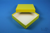 ALPHA Box 25 / 1x1 ohne Facheinteilung, gelb, Höhe 25 mm, Karton standard....