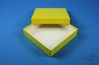 ALPHA Box 25 / 1x1 without divider, yellow, height 25 mm, fiberboard special....
