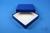 ALPHA Box 32 / 1x1 ohne Facheinteilung, blau, Höhe 32 mm, Karton standard....