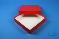 ALPHA Box 32 / 1x1 without divider, red, height 32 mm, fiberboard standard....