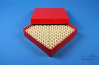 ALPHA Box 32 / 13x13 divider, red, height 32 mm, fiberboard standard. ALPHA...