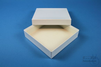 ALPHA Box 32 / 1x1 without divider, white, height 32 mm, fiberboard standard....