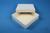ALPHA Box 32 / 1x1 ohne Facheinteilung, weiss, Höhe 32 mm, Karton standard....