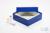 ALPHA Box 50 / 1x1 ohne Facheinteilung, blau, Höhe 50 mm, Karton standard....