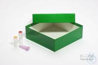 ALPHA Box 50 / 1x1 without divider, green, height 50 mm, fiberboard standard....
