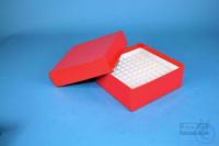 ALPHA Box 50 / 10x10 divider, red, height 50 mm, fiberboard standard. ALPHA...