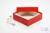 ALPHA Box 50 / 1x1 ohne Facheinteilung, rot, Höhe 50 mm, Karton standard....