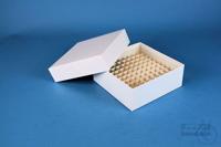 ALPHA Box 50 / 10x10 divider, white, height 50 mm, fiberboard special. ALPHA...