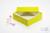 ALPHA Box 50 / 1x1 ohne Facheinteilung, gelb, Höhe 50 mm, Karton standard....