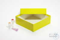 ALPHA Box 50 / 1x1 without divider, yellow, height 50 mm, fiberboard special....