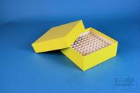 ALPHA Box 50 / 10x10 divider, yellow, height 50 mm, fiberboard special. ALPHA...