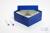 ALPHA Box 75 / 1x1 ohne Facheinteilung, blau, Höhe 75 mm, Karton standard....